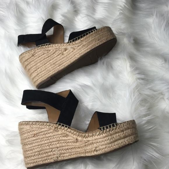 07ede00957d Franco Sarto Shoes - Franco Sarto Tulsa Black Espadrille Wedge Sandal